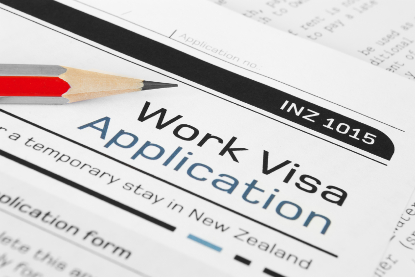 Work visa application.